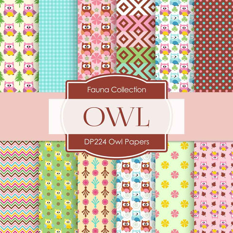 Owl Papers Digital Paper DP224 - Digital Paper Shop - 1