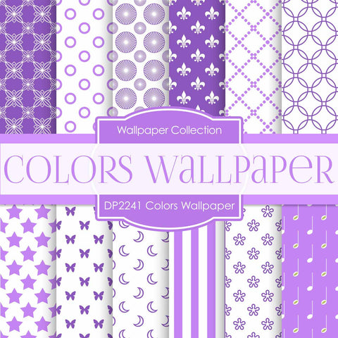 Colors Wallpaper Digital Paper DP2241 - Digital Paper Shop - 1