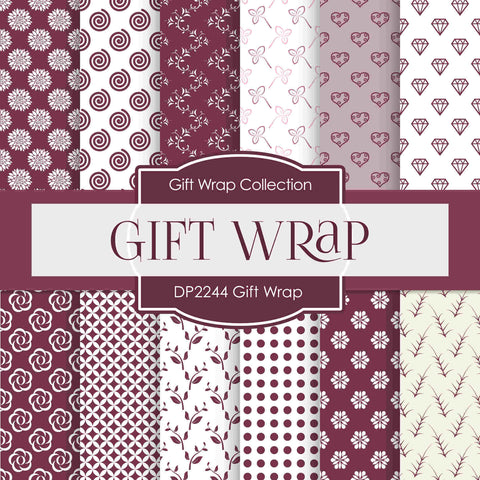 Gift Wrap Digital Paper DP2244 - Digital Paper Shop - 1