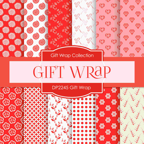 Pink Gift Wrap Digital Paper DP2245 - Digital Paper Shop - 1