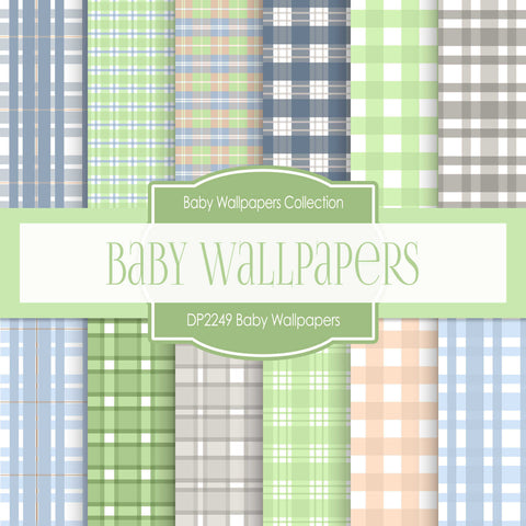 Baby Wallpapers Digital Paper DP2249 - Digital Paper Shop - 1