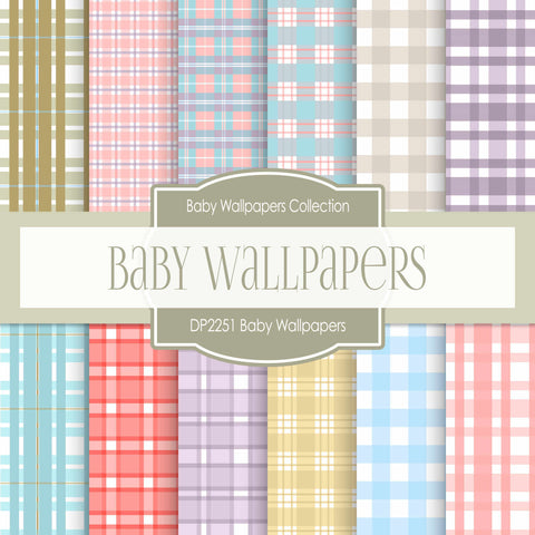 Baby Wallpapers Digital Paper DP2251 - Digital Paper Shop - 1