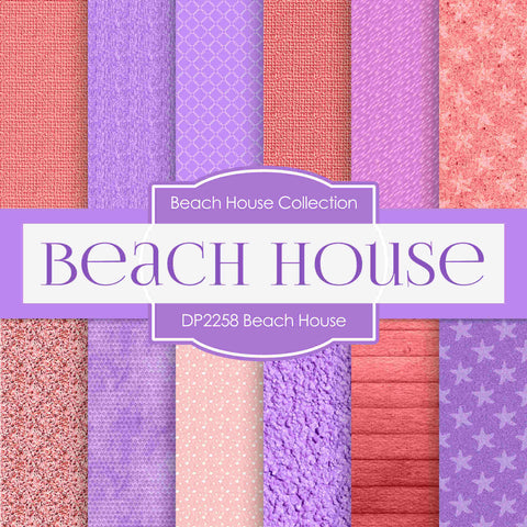 Beach House Digital Paper DP2258 - Digital Paper Shop - 1