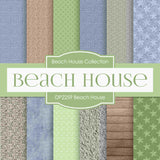 Beach House Digital Paper DP2259 - Digital Paper Shop - 1