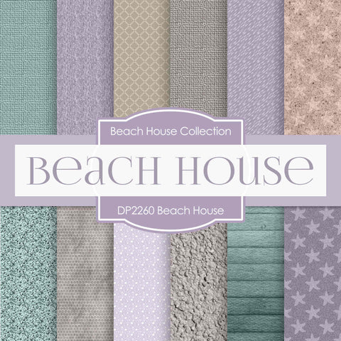 Beach House Digital Paper DP2260 - Digital Paper Shop - 1
