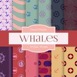Whales Digital Paper DP2266 - Digital Paper Shop - 1