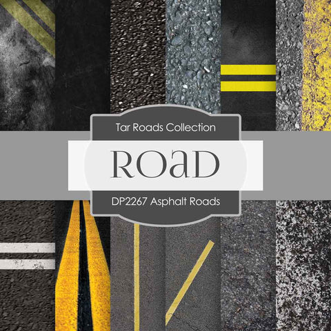 Asphalt Roads Digital Paper DP2267 - Digital Paper Shop - 1