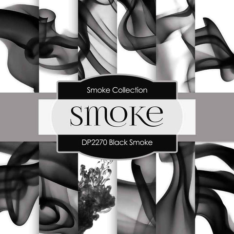 Black Smoke Digital Paper DP2270 - Digital Paper Shop - 1