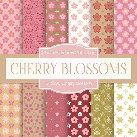 Cherry Blossoms Digital Paper DP2270A - Digital Paper Shop - 1