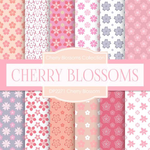 Cherry Blossoms Digital Paper DP2271 - Digital Paper Shop - 1