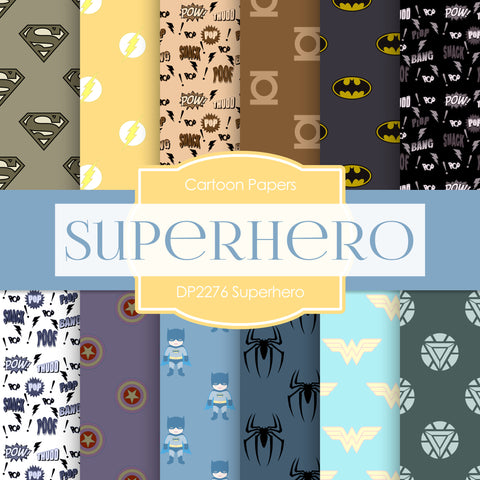 Superhero Digital Paper DP2276 - Digital Paper Shop - 1