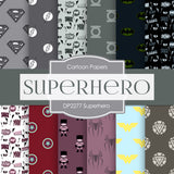 Superhero Digital Paper DP2277 - Digital Paper Shop - 1
