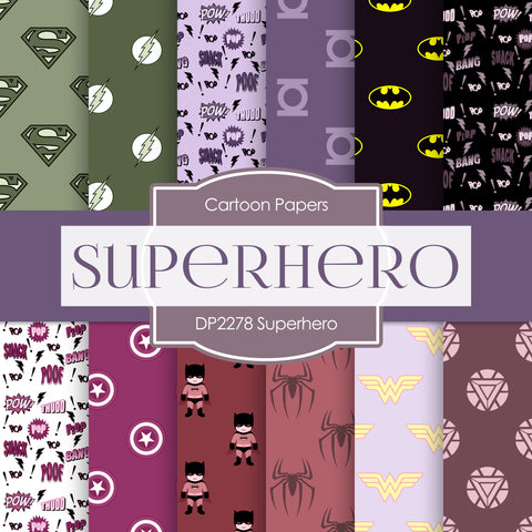 Superhero Digital Paper DP2278A - Digital Paper Shop - 1