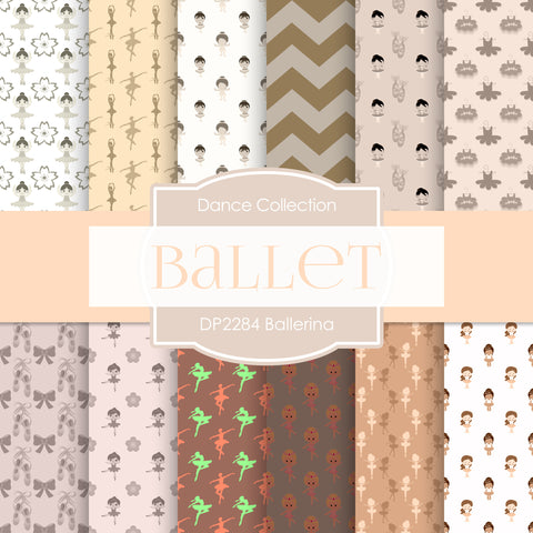 Ballerina Digital Paper DP2284 - Digital Paper Shop - 1