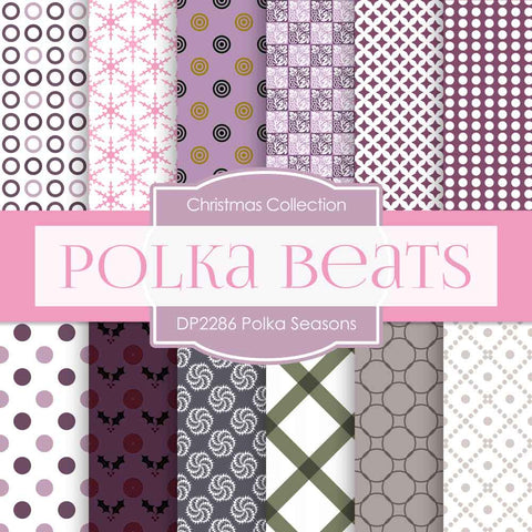 Polka Seasons Digital Paper DP2286 - Digital Paper Shop - 1
