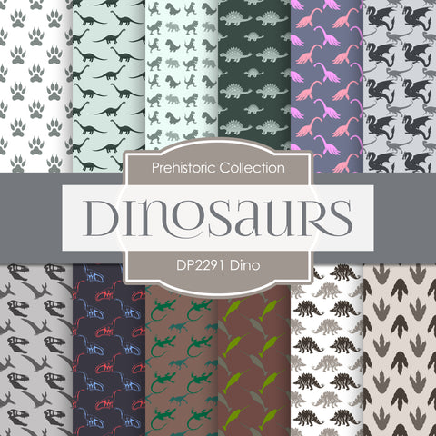 Dino Digital Paper DP2291 - Digital Paper Shop - 1