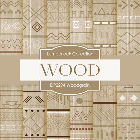 Woodgrain Digital Paper DP2294A - Digital Paper Shop - 1