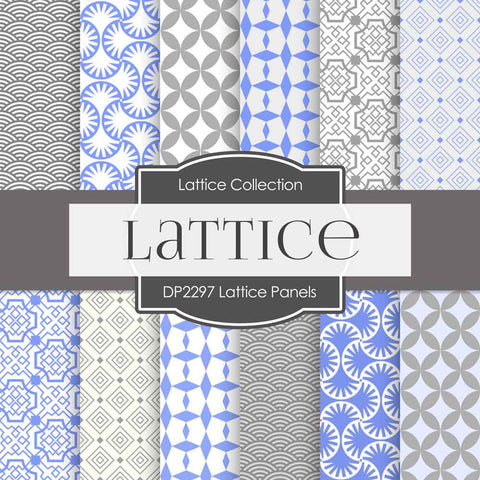 Lattice Panels Digital Paper DP2297 - Digital Paper Shop - 1