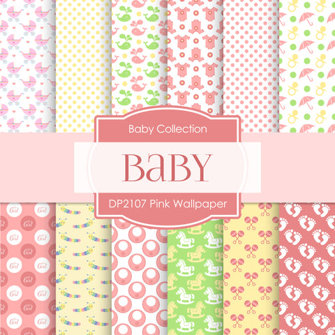 Baby Girl Digital Paper DP229 - Digital Paper Shop - 1
