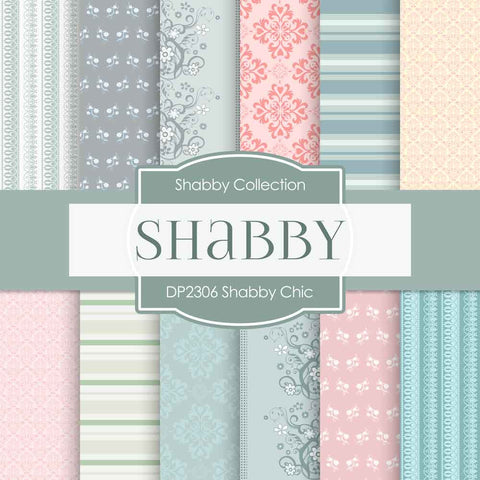 Shabby Chic Digital Paper DP2306 - Digital Paper Shop - 1