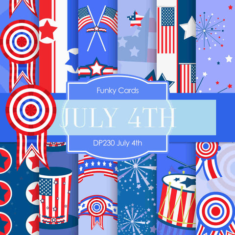 July 4th Digital Paper DP230 - Digital Paper Shop - 1