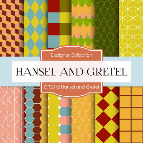 Hansel and Gretel Digital Paper DP2312 - Digital Paper Shop - 1