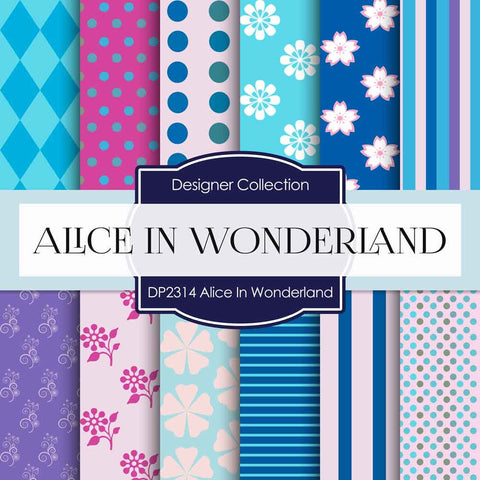 Alice In Wonderland Digital Paper DP2314 - Digital Paper Shop - 1