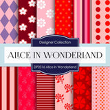 Alice In Wonderland Digital Paper DP2316 - Digital Paper Shop - 1