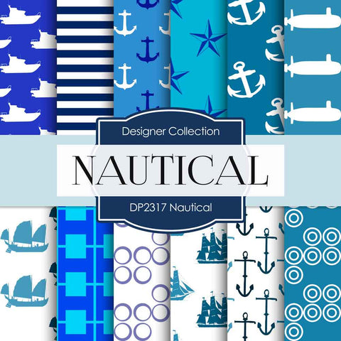 Nautical Digital Paper DP2317 - Digital Paper Shop - 1