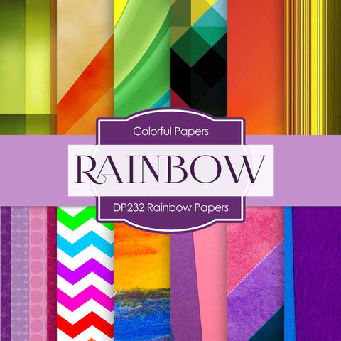 Rainbow Papers Digital Paper DP232 - Digital Paper Shop - 1