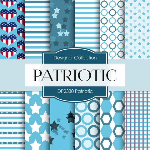 Patriotic Digital Paper DP2330 - Digital Paper Shop - 1