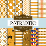 Patriotic Digital Paper DP2331 - Digital Paper Shop - 1