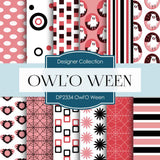 Owl' O Ween Digital Paper DP2334 - Digital Paper Shop - 1