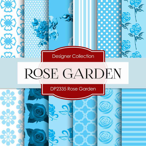 Rose Garden Digital Paper DP2335 - Digital Paper Shop - 1