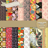 Lunar New Year Digital Paper DP2339 - Digital Paper Shop - 1