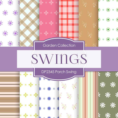 Porch Swing Digital Paper DP2345 - Digital Paper Shop - 1
