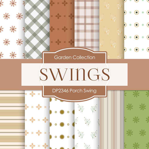 Porch Swing Digital Paper DP2346 - Digital Paper Shop - 1