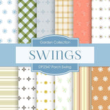 Porch Swing Digital Paper DP2347 - Digital Paper Shop - 1