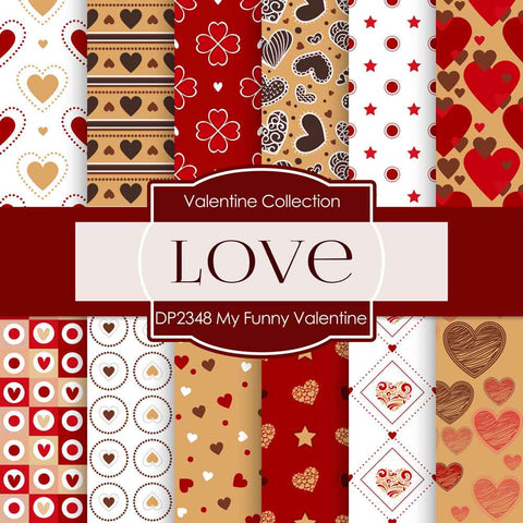 My Funny Valentine Digital Paper DP2348 - Digital Paper Shop - 1
