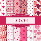 My Funny Valentine Digital Paper DP2349 - Digital Paper Shop - 1