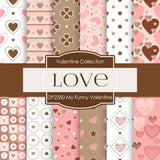 My Funny Valentine Digital Paper DP2350 - Digital Paper Shop - 1