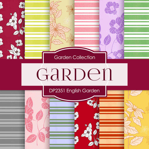 Engilsh Garden Digital Paper DP2351 - Digital Paper Shop - 1