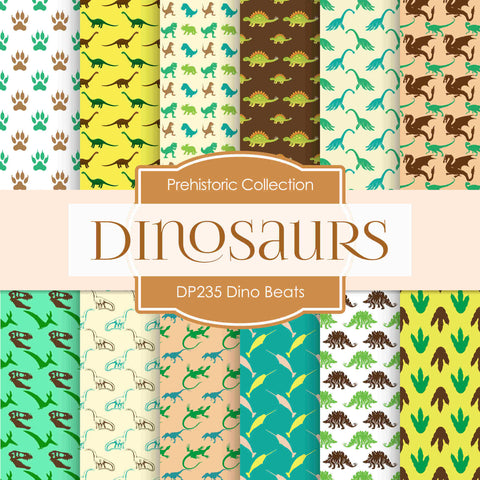Dino Brights Digital Paper DP235 - Digital Paper Shop - 1