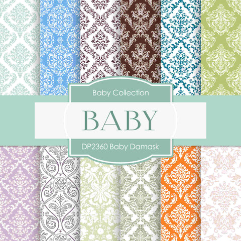 Baby Damask Digital Paper DP2360 - Digital Paper Shop - 1