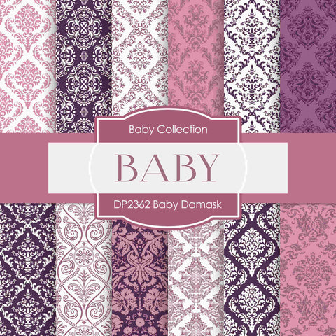 Baby Damask Digital Paper DP2362 - Digital Paper Shop - 1
