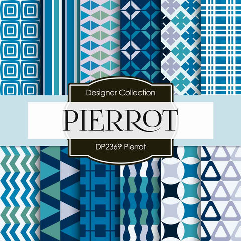 Pierrot Digital Paper DP2369 - Digital Paper Shop - 1