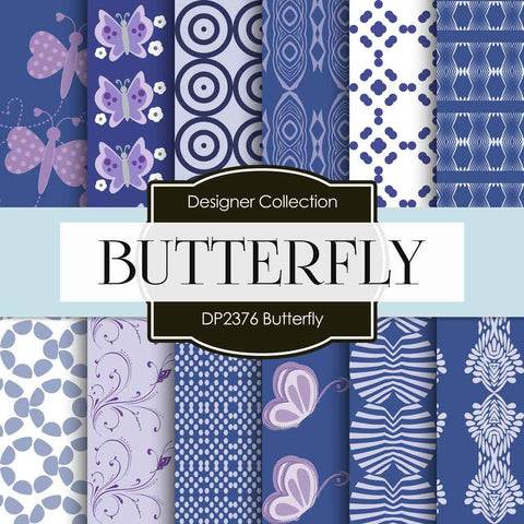 Butterfly Digital Paper DP2376 - Digital Paper Shop - 1