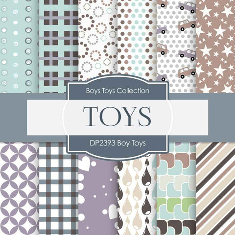 Boy Toys Digital Paper DP2393 - Digital Paper Shop - 1