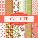 Cat In The Hat Digital Paper DP2398 - Digital Paper Shop - 1