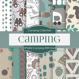 Camping With Dad Digital Paper DP2402 - Digital Paper Shop - 1